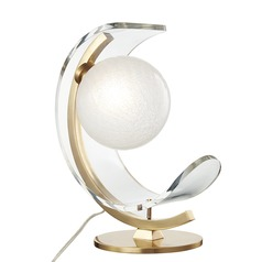 Mitzi Arden Aged Brass LED Table Lamp with Globe Shade