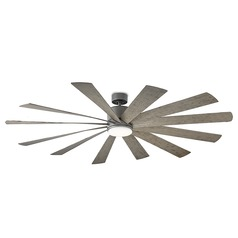 Modern Forms Graphite 80-Inch LED Smart Ceiling Fan 2041LM 3000K