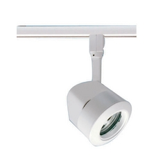 Modern Track Light Head in White Finish