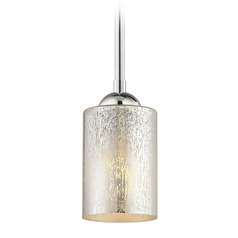 Design Classics Gala Fuse Chrome LED Mini-Pendant Light with Cylindrical Shade