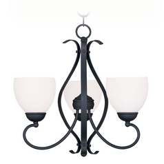 Livex Lighting Brookside Black Mini-Chandelier