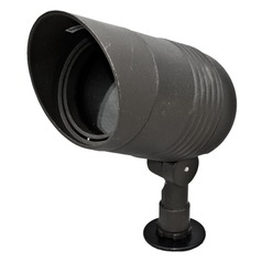 Black Cast Aluminum Directional Spot Light with Hood