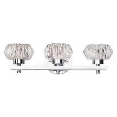 Modern Chrome LED Bathroom Light with Clear Shade 3000K 1200LM