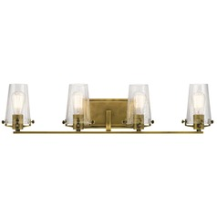 Seeded Glass Bathroom Light Brass Kichler Lighting