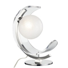 Mitzi Arden Polished Nickel LED Table Lamp with Globe Shade