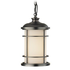 Feiss Lighting Lighthouse Burnished Bronze LED Outdoor Hanging Light