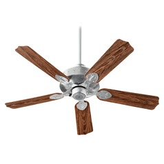 Quorum Lighting Hudson Galvanized Ceiling Fan Without Light