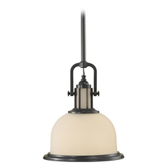 Pendant Light with White Glass