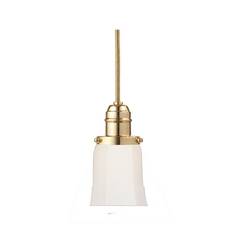 Hudson Valley Lighting Mini-Pendant Light with White Glass 3102-PB-119