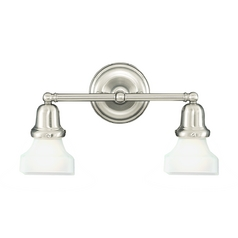 Hudson Valley Lighting Bathroom Light with White Glass in Old Bronze Finish 582-OB-226