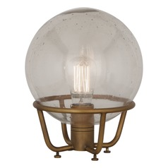 Robert Abbey Rico Espinet Buster Globe Aged Brass Table Lamp with Globe Shade
