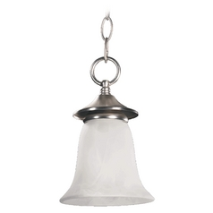Quorum Lighting Coventry Satin Nickel Mini-Pendant Light with Bell Shade