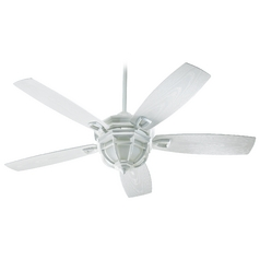Quorum Lighting Belvedere Patio White Ceiling Fan with Light