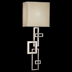 Fine Art Lamps Portobello Road Platinized Silver Sconce