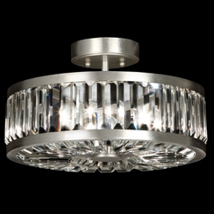 Fine Art Lamps Crystal Enchantment Silver-Leafed Semi-Flushmount Light