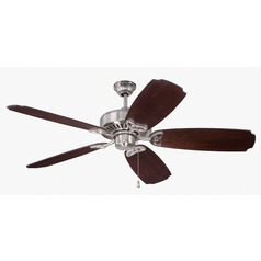 Craftmade Lighting American Tradition Stainless Steel Ceiling Fan Without Light