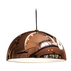 Alico Lighting Cupola Copper Pendant Light with Bowl / Dome Shade