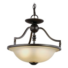 Sea Gull Lighting Trempealeau Roman Bronze LED Pendant Light with Bowl / Dome Shade