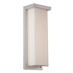Modern Forms Ledge Brushed Aluminum LED Outdoor Wall Light
