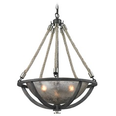 Elk Natural Rope Bowl Pendant Light