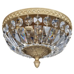 Lemire 2 Light Flush Mount w/ Antique Gold