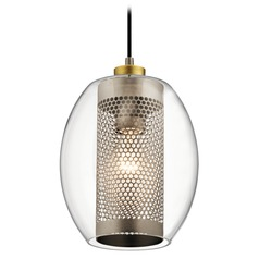Transitional Pendant Light Pewter Asher by Kichler Lighting