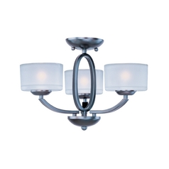 Maxim Lighting Elle Oil Rubbed Bronze Semi-Flushmount Light