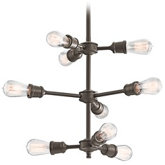 Mid-Century Modern Chandelier Bronze Lucien by Kichler Lighting