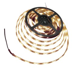 12-Volt 2700K LED Tape Light - 16.4 Feet Long - 150 Lumens Per Foot