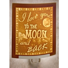 The Porcelain Garden I Love You To the Moon & Black Night Light