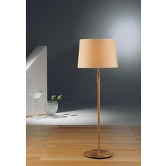 Holtkoetter Modern Floor Lamp with Beige / Cream Shades in Antique Brass Finish