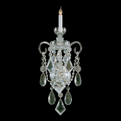 Crystorama Lighting Traditional Crystal Polished Brass Sconce