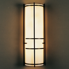 Hubbardton Forge Lighting Banded Mahogany Sconce
