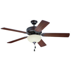 Craftmade Pro Builder 202 Aged Bronze Brushed Ceiling Fan with Light