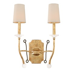 Kalco Waverly Honey Gold Sconce