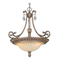Avenant French Bronze Pendant Light with Bowl / Dome Shade by Vaxcel Lighting