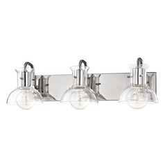 Riley Polished Nickel Bathroom Light Mitzi by Hudson Valley