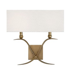 Warm Brass Sconce Payton Collection by Savoy House
