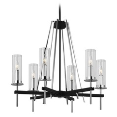 Feiss Lighting Broderick Textured Black Chandelier