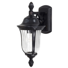 Outdoor Wall Light with Clear Glass in Heritage Finish