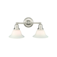Hudson Valley Lighting Bathroom Light with White Glass in Old Bronze Finish 582-OB-415M