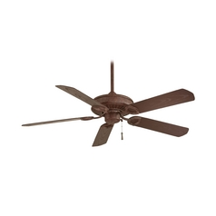 Ceiling Fan Without Light in Vintage Rust Finish