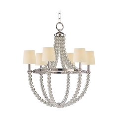 Transitional Chandelier Polished Nickel Danville by Hudson Valley Lighting