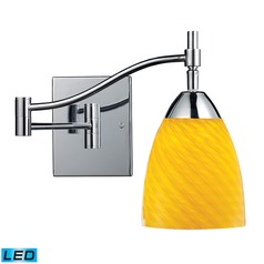 Elk Lighting Celina Polished Chrome LED Swing Arm Lamp