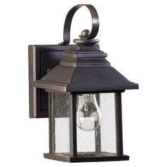 Seeded Glass Outdoor Wall Light Oiled Bronze Quorum Lighting