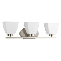 Progress Lighting Bounty Brushed Nickel Bathroom Light