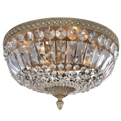 Lemire 4 Light Flush Mount with Antique Gold