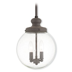 Livex Lighting Northampton Bronze Mini-Pendant Light with Globe Shade
