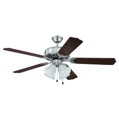 Craftmade Pro Builder 203 Brushed Polished Nickel Ceiling Fan with Light