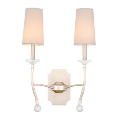 Kalco Waverly Pearl Silver Sconce
